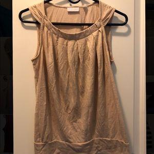 NY&C tan blouse